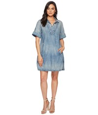 Ag Adriano Goldschmied Amanda Dress Pebble Shore Blue