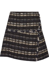 Proenza Schouler Cotton Blend Boucle Tweed Mini Wrap Skirt