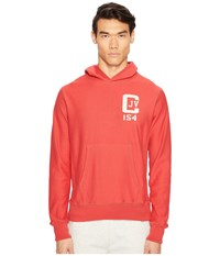 Todd Snyder Champion Logo Graphic Hoodie Faded Red