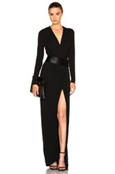 Alexandre Vauthier High Slit Maxi Dress In Black