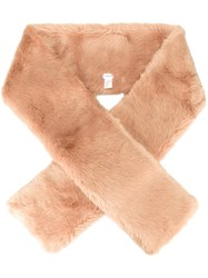 Carven Elongated Scarf Nude And Neutrals