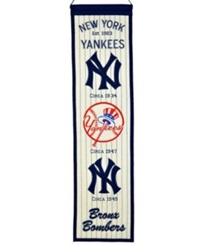 Winning Streak New York Yankees Heritage Banner White Navy
