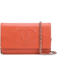 Chanel Vintage 'Woc' Wallet On Chain Red