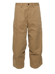 Y's By Yohji Yamamoto Cargo Cropped Cotton Trousers