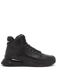 Balmain B Ball High Top Leather Trainers Black