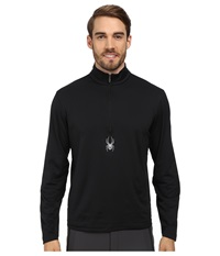 Spyder Silver Drip Dry W.E.B. T Neck Top Black Men's Long Sleeve Pullover