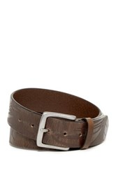 Tommy Bahama Hibiscus Embossed Leather Belt Green