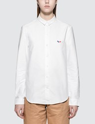 Maison Kitsune Tricolor Fox Patch Classic Oxford Shirt