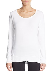 Saks Fifth Avenue Blue Cotton Jersey Top White