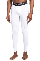 Men's Adidas 'Techfit' Compression Training Tights White