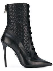 Aperlai Hearts Ankle Boots Black