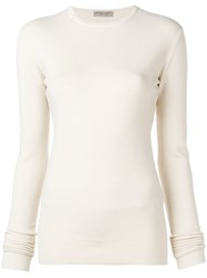Bottega Veneta Simple Jumper Neutrals