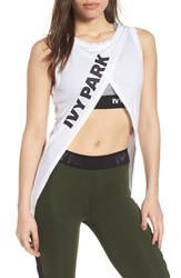 Ivy Park Cross Front Tank Top White