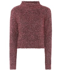 Ellery Cropped Sweater Pink