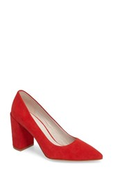 Kenneth Cole Women's New York Margaux Pump Red Suede