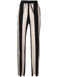 Marques Almeida Marques'almeida Striped Trousers Nude And Neutrals