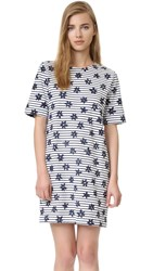 Chinti And Parker Printed Breton Dress Off White And Navy