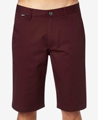 Fox Essex Solid Shorts Burgundy