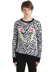 Diesel Flamingo Cotton And Viscose Knit Sweater