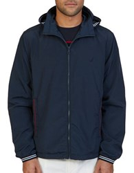 Nautica Lightweight Hooded Bomber Jacket True Navy
