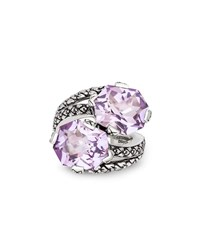 Stephen Dweck Pink Amethyst Bypass Ring