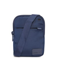 Lacoste Navy Small Format Leather Patch Logo Shoulder Bag