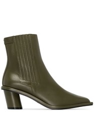 Reike Nen Stitched 60Mm Ankle Boots Green