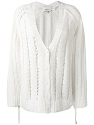 3.1 Phillip Lim Pointelle Cardigan White