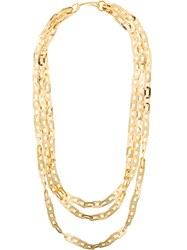 Wouters And Hendrix Technofossils Chain Necklace Metallic