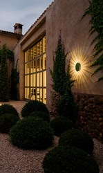 Vibia Meridiano Outdoor Sconce Beige Green