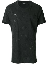 Lost And Found Rooms Distressed T Shirt Cotton Grey