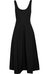 Tibi Stretch Knit Midi Dress Black