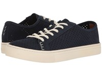 Soludos Perforated Tennis Sneaker Midnight Men's Shoes Navy