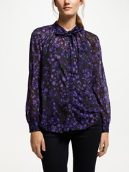 Great Plains Abstract Floral Top Purple