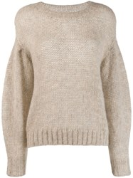Closed Chunky Knit Sweater Neutrals