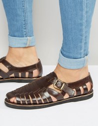Kg By Kurt Geiger Woven Buckle Sandles In Wine Leather Red