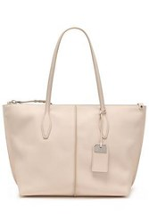 Tod's Woman Textured Leather Tote Ivory