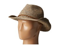 Hat Attack Raffia Crochet Small Cowgirl Taupe Wood Beads Caps Beige
