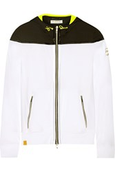 Monreal London Hooded Stretch Jersey Jacket White