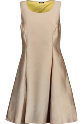 Jil Sander Pleated Brushed Satin Dress Nude