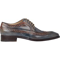 Harris Men's Wingtip Bluchers Blue Grey No Color Blue Grey No Color