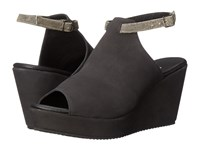 Cordani Fina Black Nubuck Women's Wedge Shoes