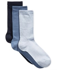 Charter Club Women's 3 Pk. Crew Socks Only At Macy's Navy