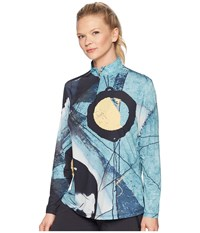 Jamie Sadock Sunsense R Lightweight Eclipse Print 1 4 Zip Long Sleeve Top With 50 Spf Jade Long Sleeve Pullover Green