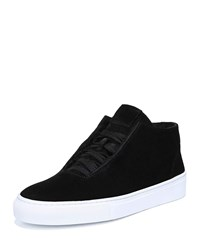 Via Spiga Sartin Suede Lace Up Sneakers Black