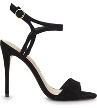 Aldo Lyviel Suede Heeled Sandals Black Suede