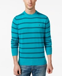 Tommy Hilfiger Signature Crew Neck Striped Sweater Lake Blue