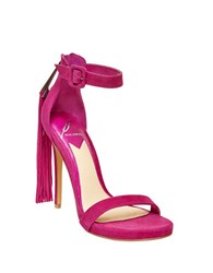 Brian Atwood Tosca Tassel Ankle Strap Sandals Pink