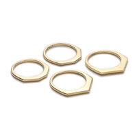 J.Crew Thin Shaped Ring Set Gold