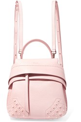 Tod's Wave Mini Textured Leather Backpack Blush
